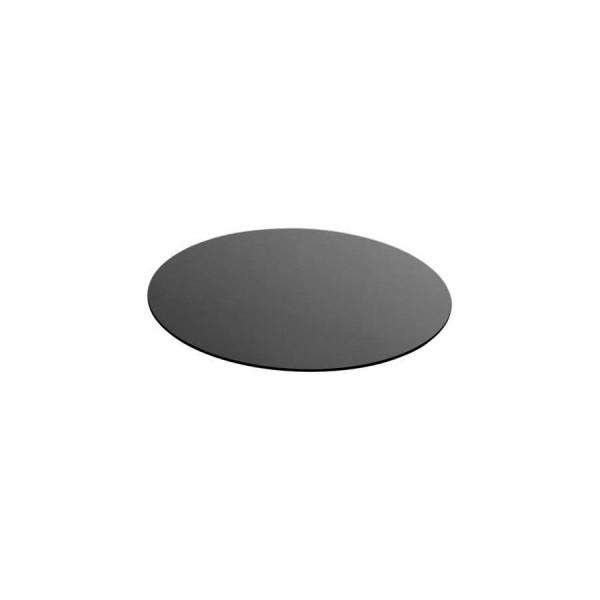 Поднос круглый Zeiher из чёрного стекла D=530 мм