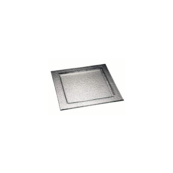 Тарелка квадратная Zeiher из тонированного стекла 300*300 мм