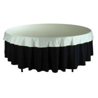 """Наперон для круглого стола 2,2 м белый """"Жаккард"""""""