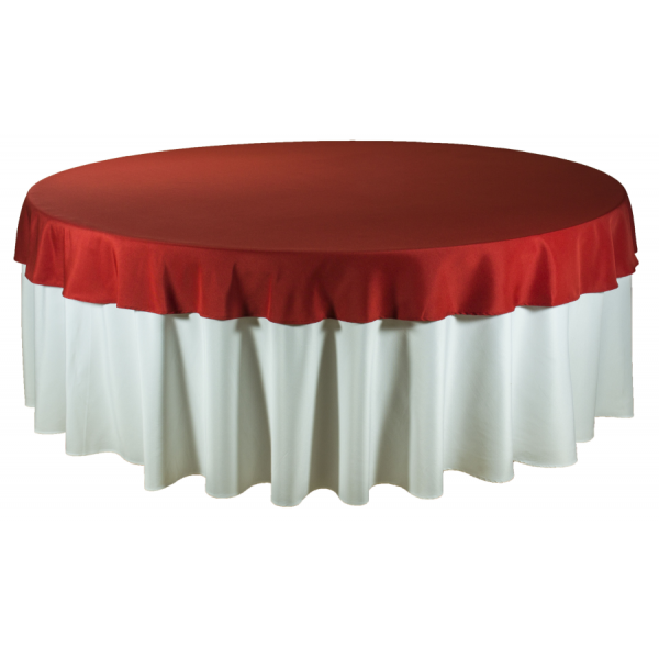 Наперон для круглого стола 2,2 м красный