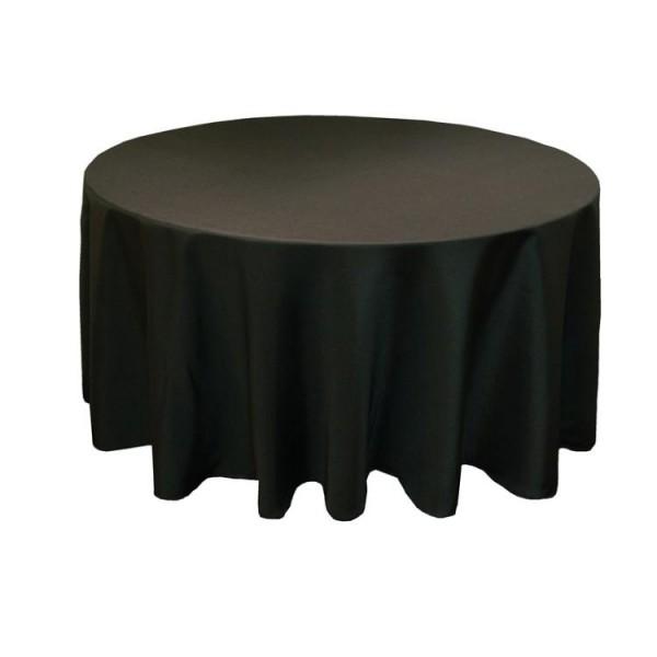 Скатерть круглая 3 м чёрная Жаккард