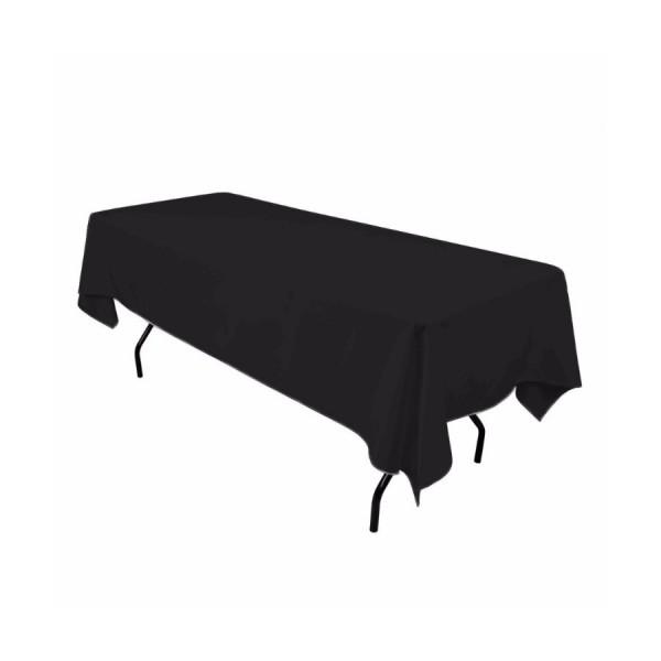 Скатерть прямоугольная 1,4 x 2,4 м чёрная Жаккард